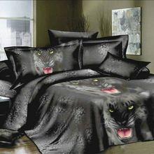 New Design Bedding Set 4pcs 3D Printed Bedding Set Bedclothes Black Tiger…