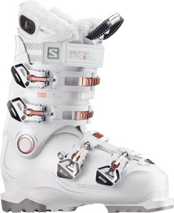 Salomon Women's X Pro 90 Custom Heat Ski Boots White/Coral Mondo 23.5