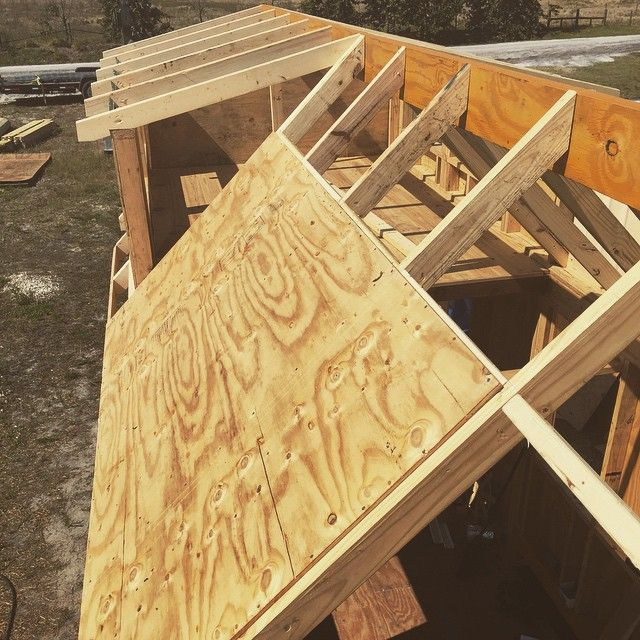 First sheet of plywood on the roof sheathing framing for Roof sheathing thickness