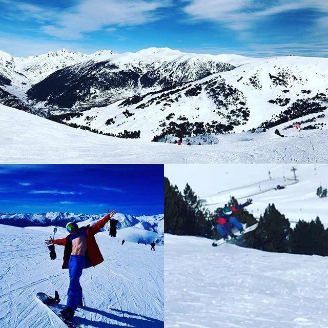 Gran semana en Andorra. Buen tiempo y mucha nieve  Los niños han disfrutado un montón. La mayor una crack y la peque de la casa es una campeona ya baja toda la montaña sola!! #snowenfamilia #snow #snowboard