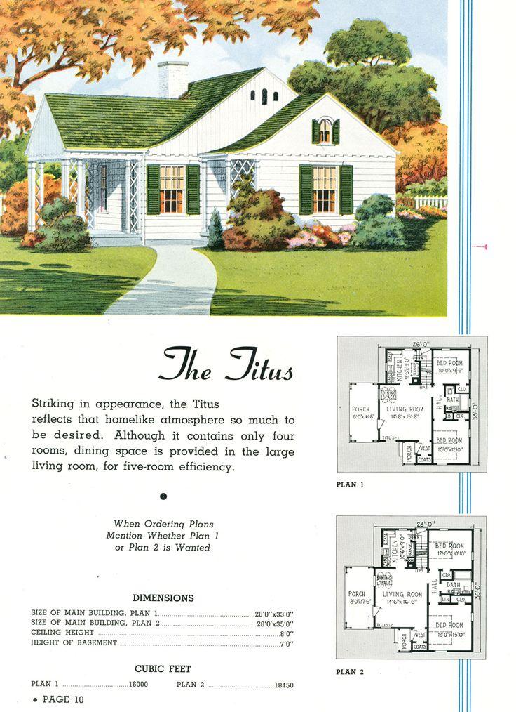 17 Best Images About Vintage House Plans On Pinterest