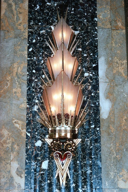 Art Deco Sconce in the Fisher Building, Detroit, MI.........................Totally stunning*hugs*