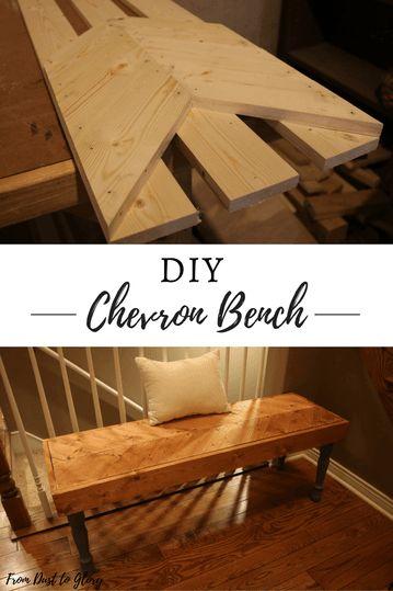 DIY Chevron Bench