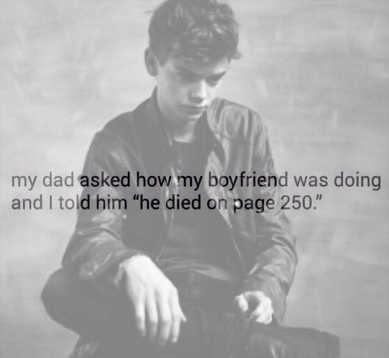 """""""He died on page 250"""""""
