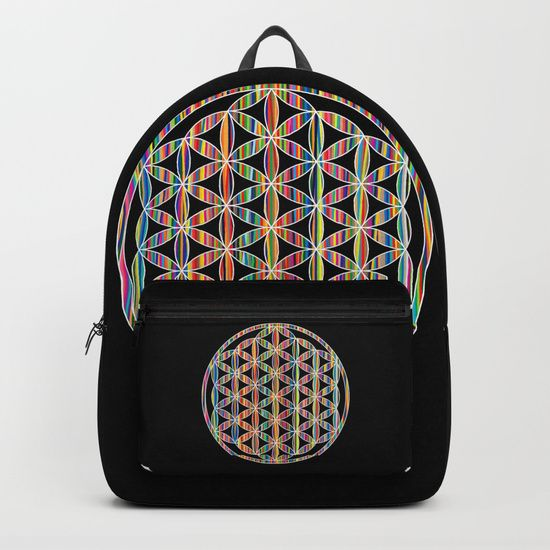 Flower of Life Colored | Kids Room | Delight Backpacks by Azima #school #backtoschool #teacher #student #study #students #floweroflife #secret #geometry #meditation #reiki #yoga https://society6.com/product/flower-of-life-colored--kids-room--delight-5w5_backpack