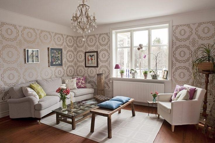 Wände streichen u2013 Ideen für das Wohnzimmer - wand farbe streichen - wohnzimmer farblich gestalten braun
