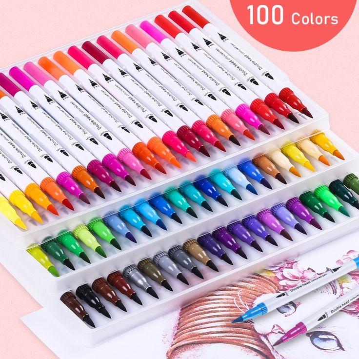 Fineliner pens brushpen painting artmarker watercolor