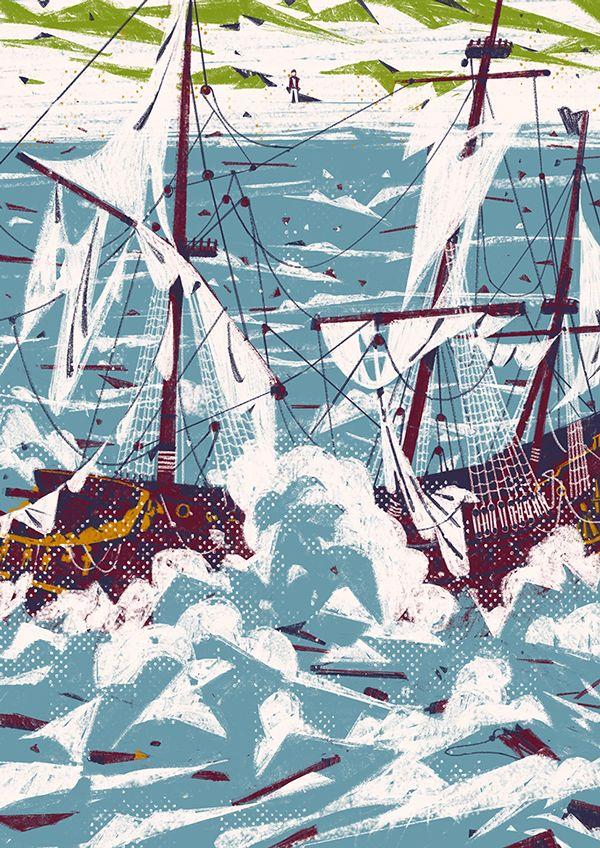 Robinson Crusoe illustrated on Illustration Served