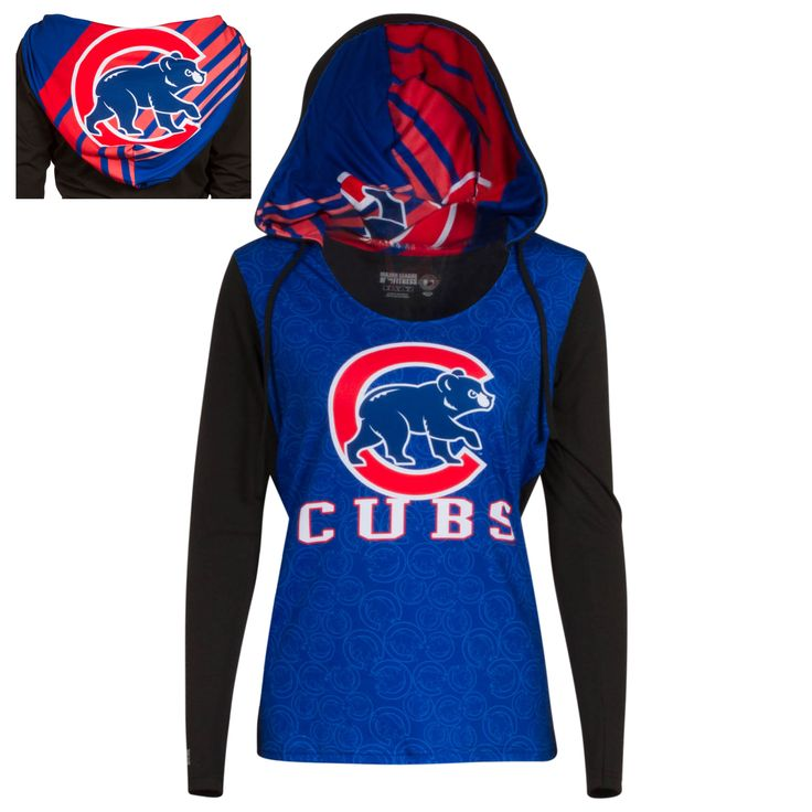 Chicago Cubs Women's Sublimated Crawl Bear Hooded Sweatshirt by College Concepts #Chicago #Cubs #ChicagoCubs