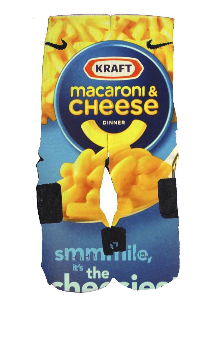 Mac and Cheese Inspired Custom Nike Elite Socks