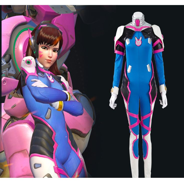 D.VA Dva Cosplay Costume New OW Hana Song Jumpsuit Superhero Battlesuit Halloween Catsuit