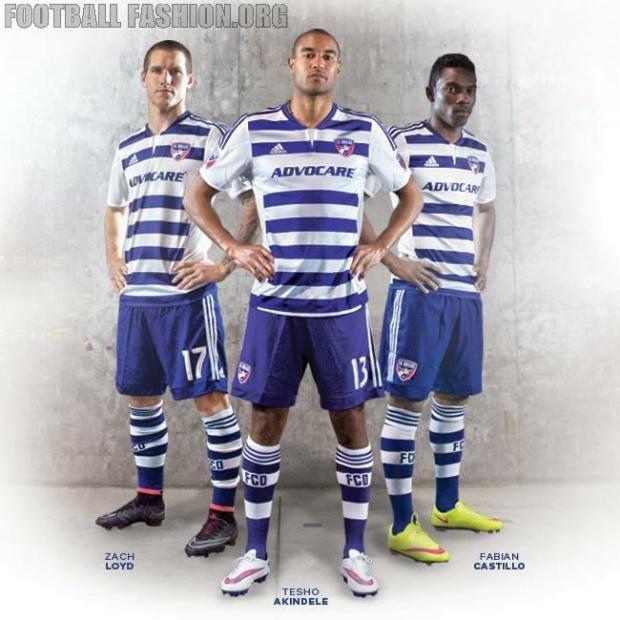 FC Dallas 2015 adidas Away Soccer Jersey, Football Kit, Shirt, Camiseta de FUtbol