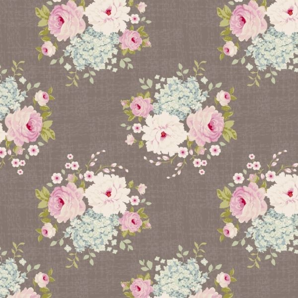 Tilda Winter Memories Fat Quarter - Emma Grey Brown - Fat Quarter Fabric - Fabric Stitch Craft Create