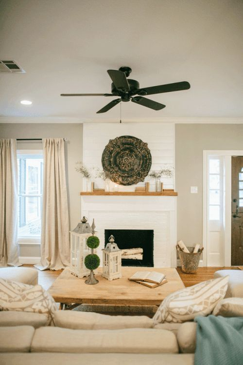fixer upper fireplaces fireplace mantels and beige walls. Black Bedroom Furniture Sets. Home Design Ideas