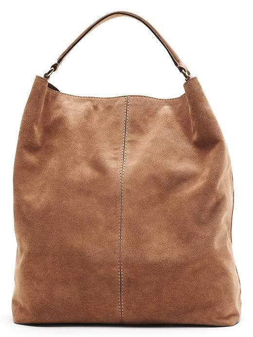 Discover your go to carry all bag. Our soft suede hobo bag is the perfect accessory for any look. This versatile handbag can pull together any look, while conveniently holding everything you may need | BananaRepublic