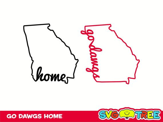 Home Sweet Home Georgia Bulldogs Love Go Dawgs Svg Dxf By