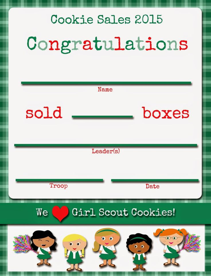 Fashionable Moms Girl Scouts FREE Printable Cookie Certificates - congratulations certificates