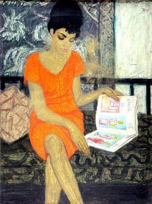 Czene, Béla (1911-1999) Olvasó lány, 1963