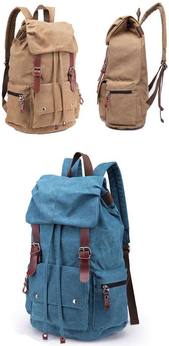 Leisure Laptop Rucksack Travel School Bag Hiking Bags Canvas Backpack for big sale! #backpack #school #college #bag #rucksack #student #cartoon #hiking #camping #travel #canvas