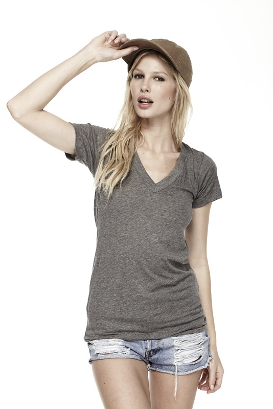 S/S V NECK at LNA Clothing - this is my go-to grey tee. Keeper.