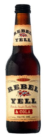 Rebel Yell Bourbon and Cola | Why doesn't the US ever get all the cool bottled cocktails? All we get here is Bud Light Margaritas - boring