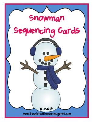 Snowman Sequencing Freebie from Randi at Teach it with Class.