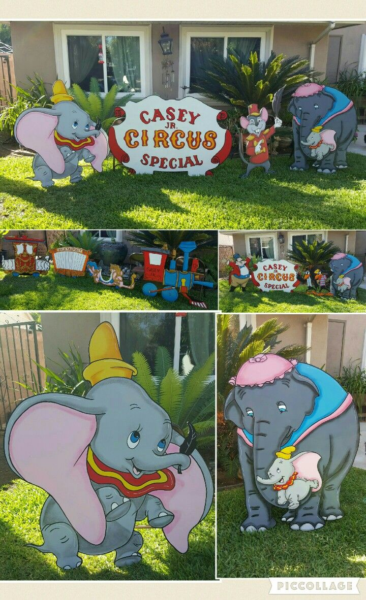 Wood yard decorations - Dumbo Lawn Signs
