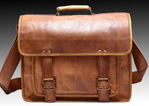 Retro Style Large Men Messenger Bag Office Satchel by sisterbuggy, $64.00