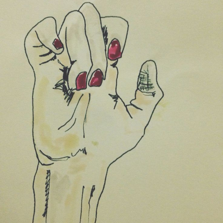 Talk to the hand #rednails #colours #drawings #art #szczepanrysuje #pencil #watercolour