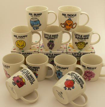 Mr Men Little Miss Mugs. I want them all! :D