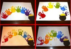 pot of gold rainbow St. Patty's Day preschool activity  hand project