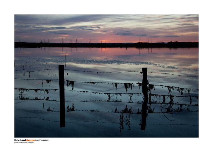 Sunset, Greatham Creek, Hartlepool