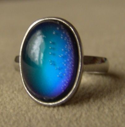 The 1970's Mood Ring... I had one of these rockin' rings! I thought this thing was so amazing how it changed color. Can remember putting it on all my fingers to see if I could get a different mood out of different fingers.: