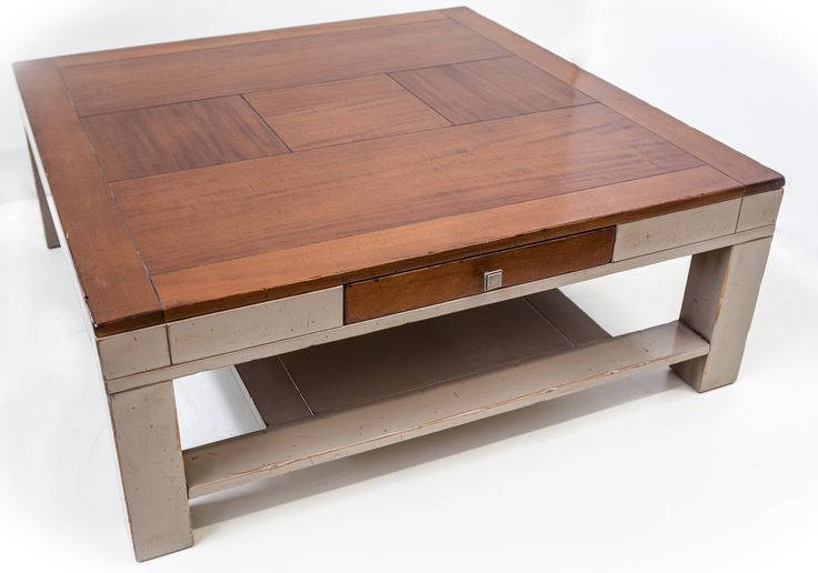 coffee table bicolor 1 drawers