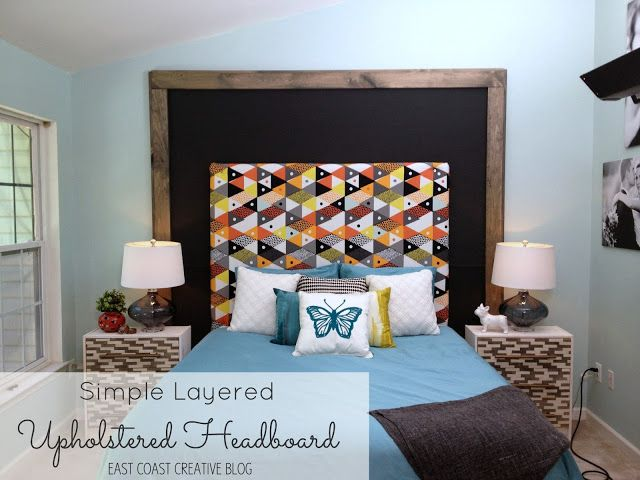 East Coast Creative: Layered Upholstered Headboard {Knock it Off DIY Project}