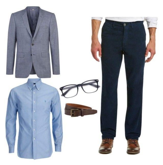 Pantalón recto , Camisa tailored fit y un saco para que aumente parte alta