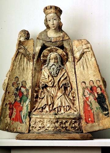 Shrined Madonna. Norrbotten, Övertorneå. 1st half of the 15th century. Local work.