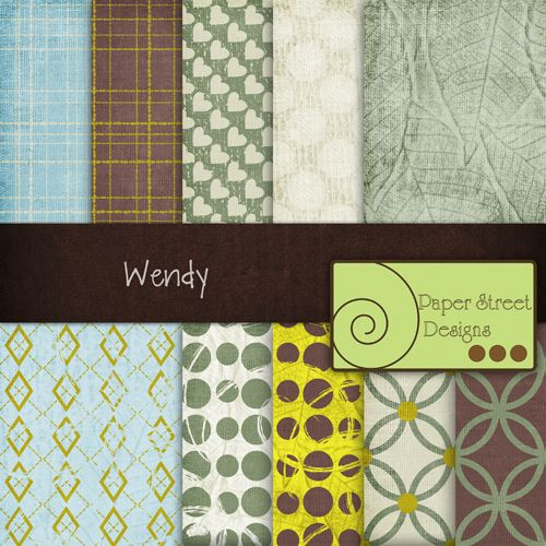 Wendy  - Free Digital Papers from Paper Street Designs