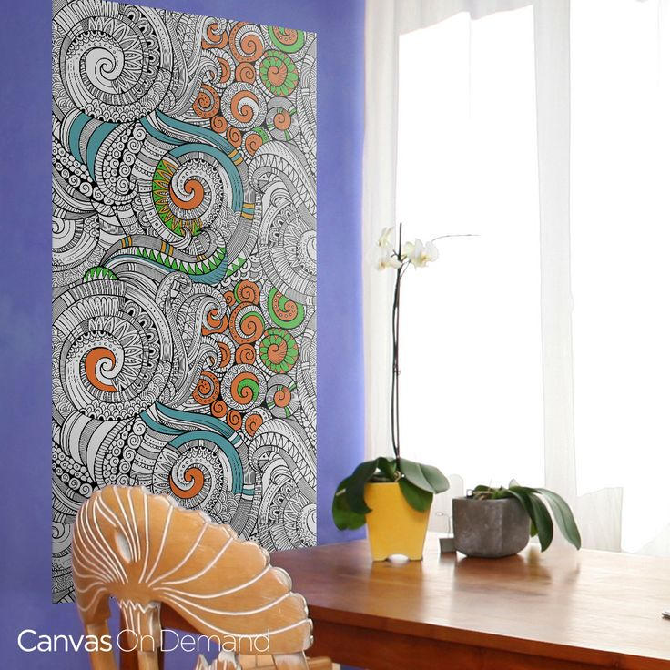 Looking For Truly Unique Wall Decor De Stress And Self Express With Coloring