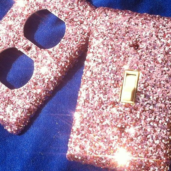 Pink Popsicle Glitter Switchplate / Outlet Cover Set by ArtZodiac