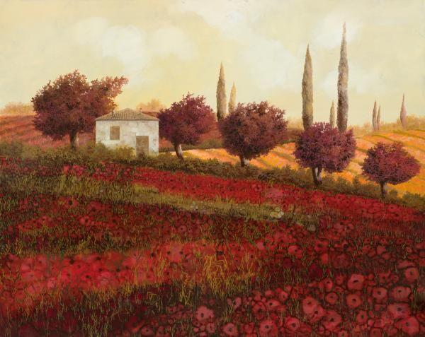 Papaveri in Toscana - Guido Borelli