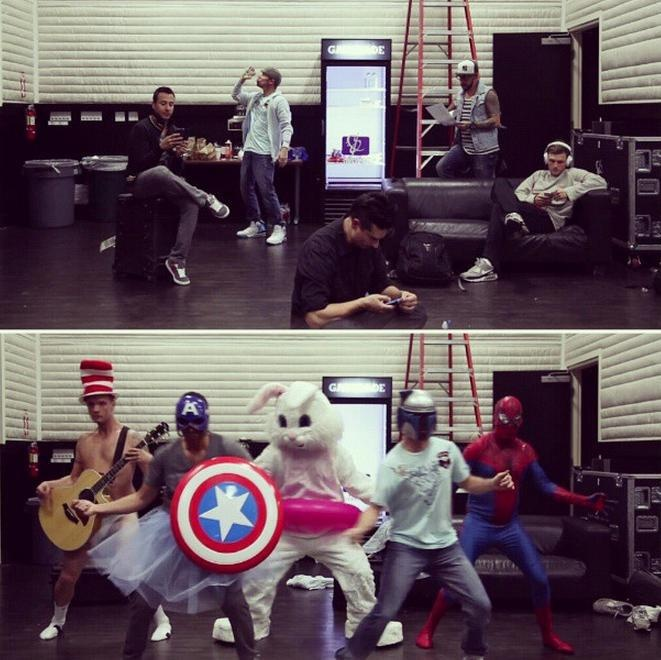 BACKSTREET BOYS!!! Can we just talk about how hilarious they are? This Harlem shake is amazing