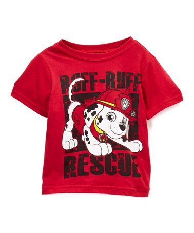 b130698d This PAW Patrol Red 'Ruff Ruff Rescue' Tee - Toddler by Children's Apparel  Network is perfect! #zulilyfinds