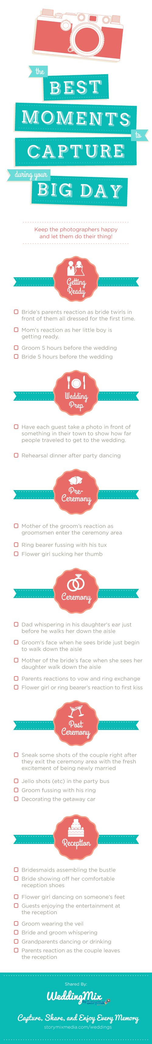 The photos you might have forgotten to take on your wedding day! I definitely never thought of some of these.