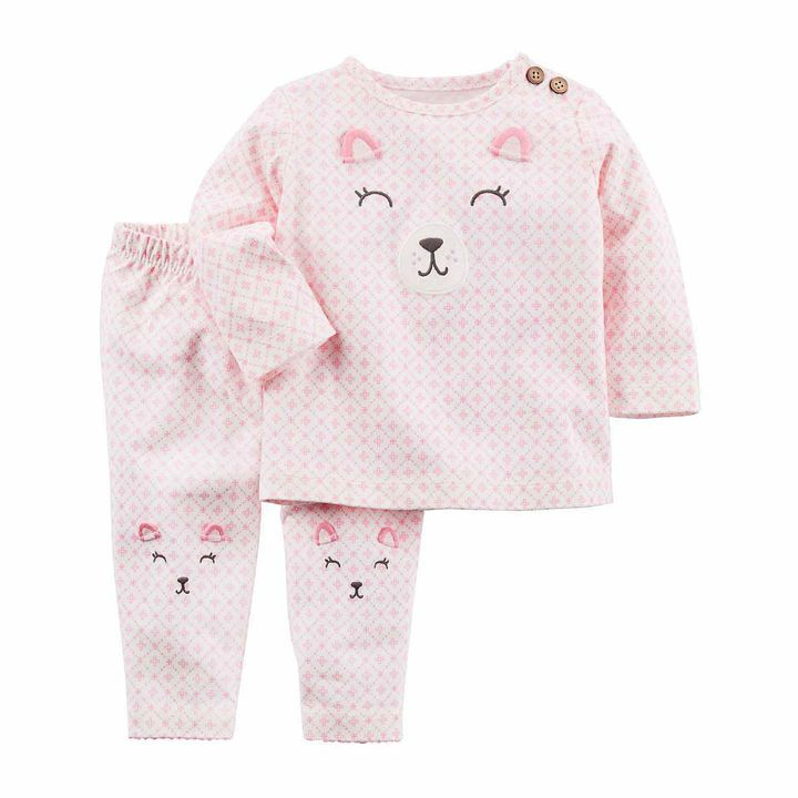 Carter's 2-pc. Grid Pant Set Baby Girls