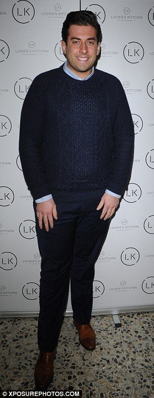 Lads: James 'Arg' Argent was in tow as was former TOWIE cast member Daniel Osborne