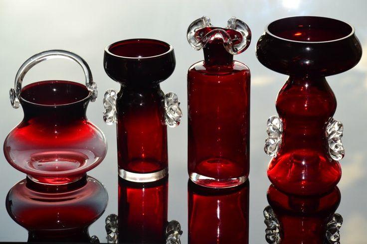 HORBOWY szkło RUBINOWE Huta SUDETY wazon (6240809261) - Allegro.pl - Więcej niż aukcje.