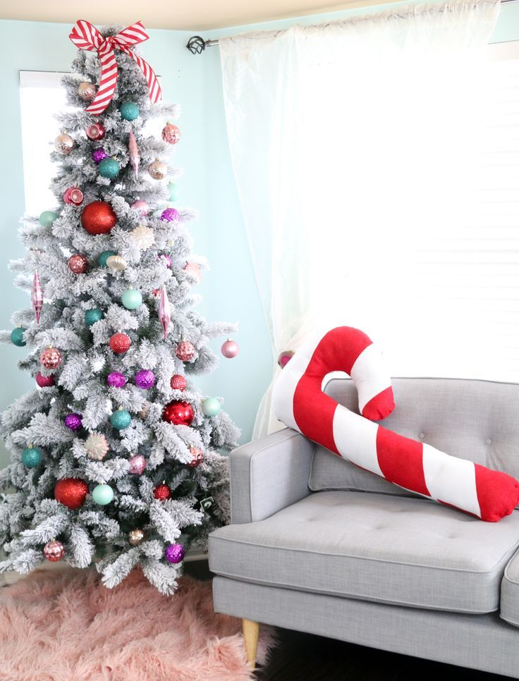 Make A Festive Giant Candy Cane Pillow For Christmas Giant Candy Beauteous Making Large Candy Cane Decorations