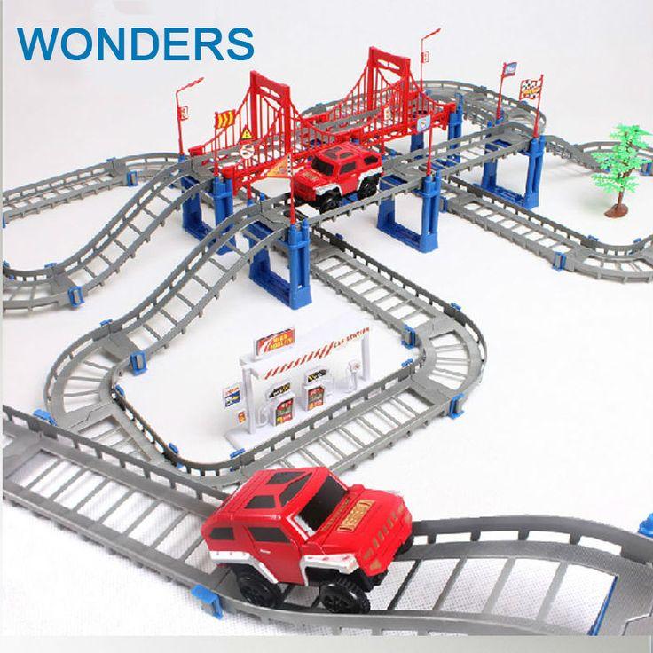 Grote Kinderen speelgoed elektrische Thomas rail auto kids spoorlijn model slot speelgoed baby racewagen dubbele baan auto verjaardag gift
