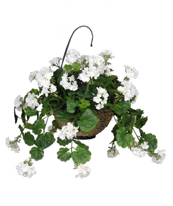 artificial geranium hanging plant in basket products. Black Bedroom Furniture Sets. Home Design Ideas
